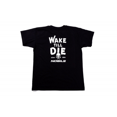 NOBILE CLASSIC T-SHIRT MEN BLACK WAKEBOARD